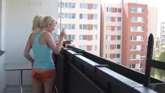 Sexy Teen Girls Rubbing Tiny Pussies