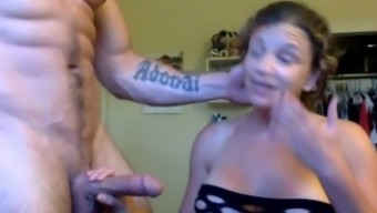 Buff College Athlete With Tattoos Fucks Curvy Girlfriend After The Gym