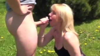 Outdoor Blow-Job And Facial On A Nice Sunny Day