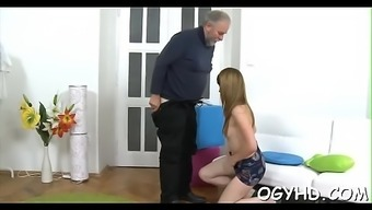 Young Babe Licked By An Old Fellow