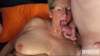 German Granny Fuck Two Dicks