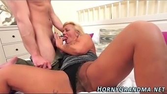 Spunk Mouthed Granny Blow