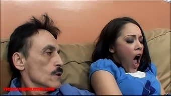 Tiny Asian Teen Tight Pussy Gets Broken By Dirty Old Man And Gets Grandpa Cum In Her Mouth