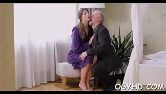 Juvenile Babe Licked By An Old Guy
