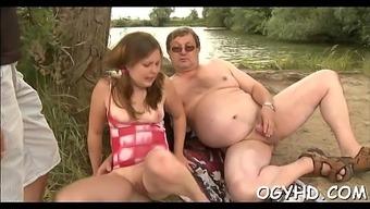 Perverted Youthful Gal Enjoys Old Boner