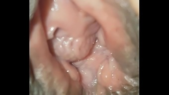 Close Up View Inside Wifes Pink Hole