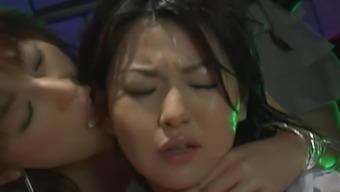 Uncensored Japanese Erotic Fetish Sex -  Les Rave 2 (Pt 3)