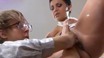 Hot Russian Milf Teaches Her Assitant About Sex