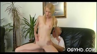 Juvenile Babe Licks And Rides Old Rod