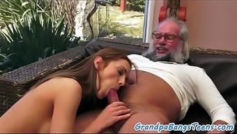 Beautiful Young Babe Banged Hard By Oldman