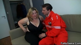 Doggy-Fuck For Huge Boobs Chubby Blonde