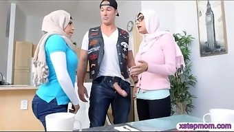 Middle Eastern Teen And Milf Threesome