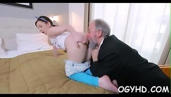 Lustful Old Boy Bonks Young Angel