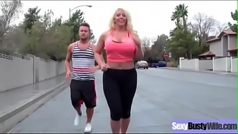 Hot Big Tits Housewife (Alura Jenson) Get Banged Hard Style On Tape Vid-03