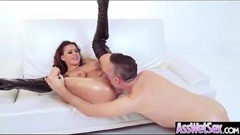 Deep Anal Sex On Tape With Big Curvy Ass Horny Girl (Eva Angelina) Vid-21