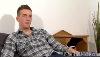 Young Jock Lewis Backwell Interviewed And Jerks Off To Cum