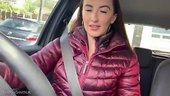 Brunette Medical Driving Girl