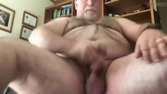 Chubby Daddy Shoots Thick Creamy Load