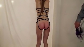 Daddy Punishes Young Teen Daughter By Hanging Her Up And Fucking Her