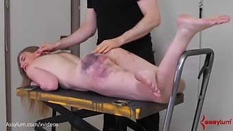 Bruised Blond Gets Fed Piss, Then Hung From Her Own Bandages And Fucked In The Ass (Rebel Rhyder)