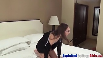 Nerdy Young Coed Cum Sprayed After Fucking Big Cock Hard