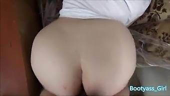 White - Big Booty Gets Fucked Doggy Style In Garage