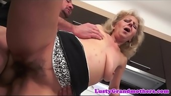 Grandma Jizzed On Hairypussy After Sex