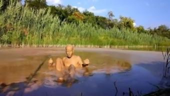Naked Mud Swimming (1)