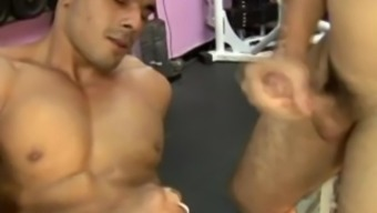 Ass Fucked Coach And Jizzed By His Trainee