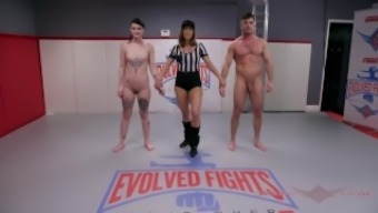 Lydia Black Mixed Nude Wrestling And Sex With Lance Hart - Evolved Fights