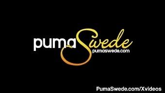 Busty Potty Mouth Puma Swede Blows & Milks A Throbbing Cock!