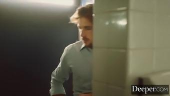 Deeper. Abigail Mac Fucks Her Young Employee In The Bathroom