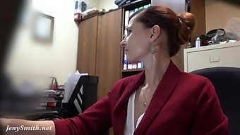 I'Ve Got A New Job. Jeny Smith Gets Naked At Her New Job. Hidden Cam Prank