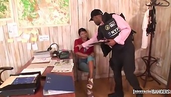 Interracial Hardcore Fuck With Hooker Yoha Riding Baton At Police Office