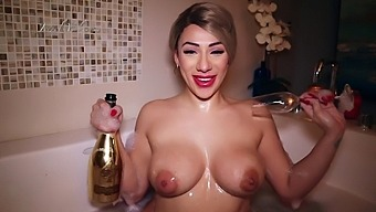 Valentine'S Day With Champagne Showers