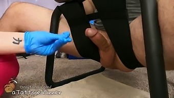 Nurse Uses Sex Chair To Milk Her Patient