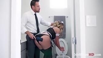 Milf Maid Pussy Tapped By Boss- Mia Lelani