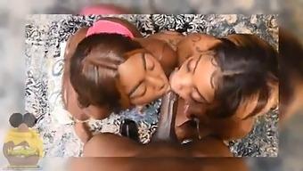 Two Ebony Thots Slob Bbc