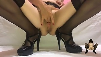 Fingering My Fertile Pussy And Squirt Like A Fountain - Masked Milf