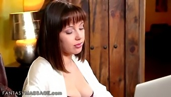 Chloe Cherry Discovers What A Threesome Massage Really Means