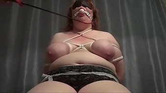 Busty Slavegirl With Tied Up Tits Sucking Her Masters Cock