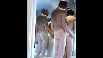 Stepdad Showering With His Sexy Stepdaughter Queen Mona & The Candy Man