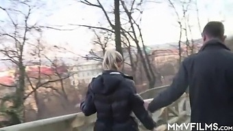 Sexy Bella B. Is On A Pussy Rush To Urinate In Public