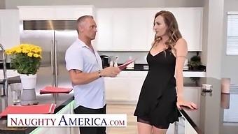 Naughty America - Natasha Starr Fucks Her Husband'S Employee In Nothing Butt Her Sexy Stockings And Heels