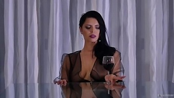 Kira Queen Seduced Her Neighbor And Fucked On The Dinner Table ( Full Video)