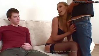 Cuck Eats Hot Cum