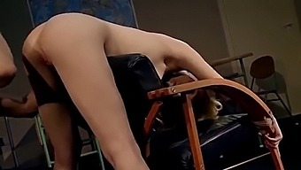 Enslaved Schoolgirl Lily Labeau. Part 3.  She Is Worshiping Her Teacher Big Dick And Enjoy His Penetrations.
