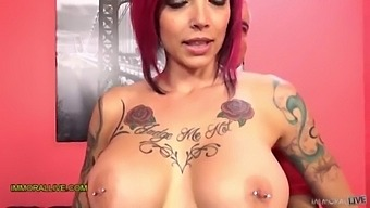 Anna Bell Peaks Gushes Like A Geyser! - Perfect Body Tattooed Milf Squirts Her Sweet Nectar - Part 1