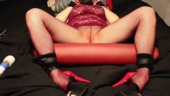 Slut Wife Has A Screaming Orgasm While Is Tied Down On The Bed
