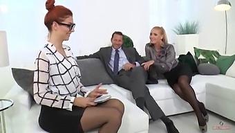 Kathia Nobili And His Husband Teaching Her Secretary (4k) (Teaser)